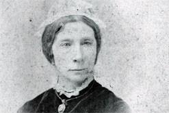 A grainy black and white photograph of Jessie Boucherett.
