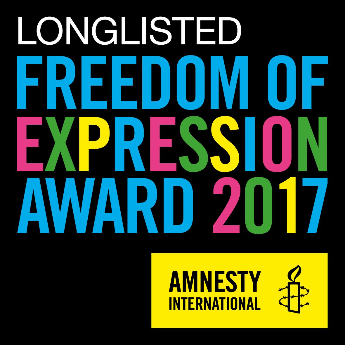 The Amnesty International Freedom of Expression Award logo.